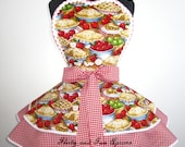 All American Apple Pie Apron with Red Country Gingham