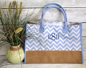 Canvas and Burlap Market Tote