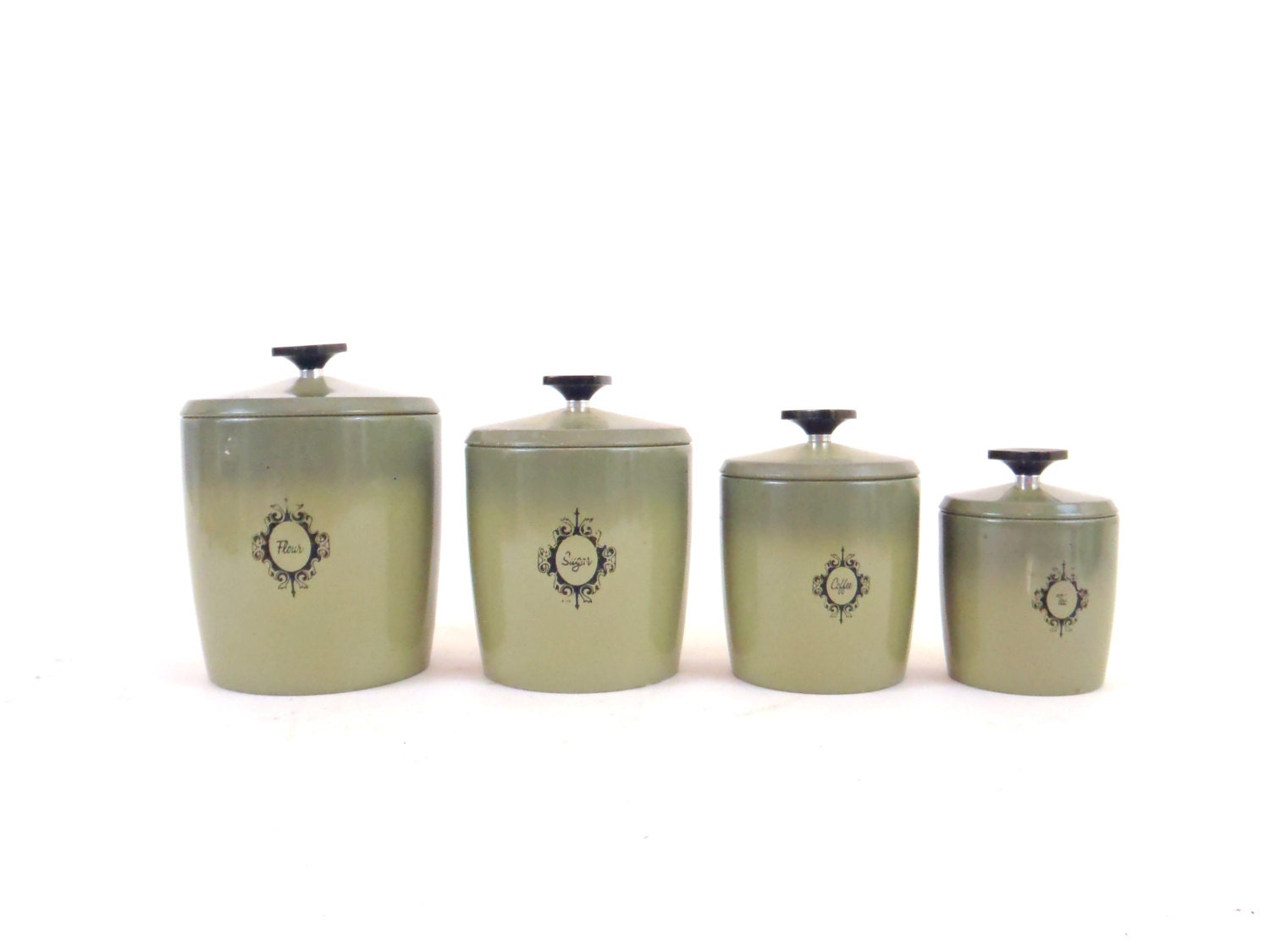 kitchen canister set kitchen canister set green kitchen jar set metal canister set 5270