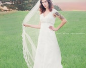 Cathedral French Alencon Lace Wedding Veil - Florence