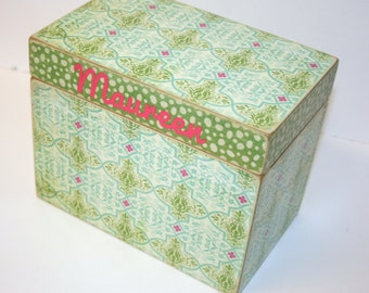 Recipe Box, 4x6 Recipe Box, 4 x 6 Custom Box, You Design It, Personalized Handmade Wooden Recipe Card Box, Address File Box