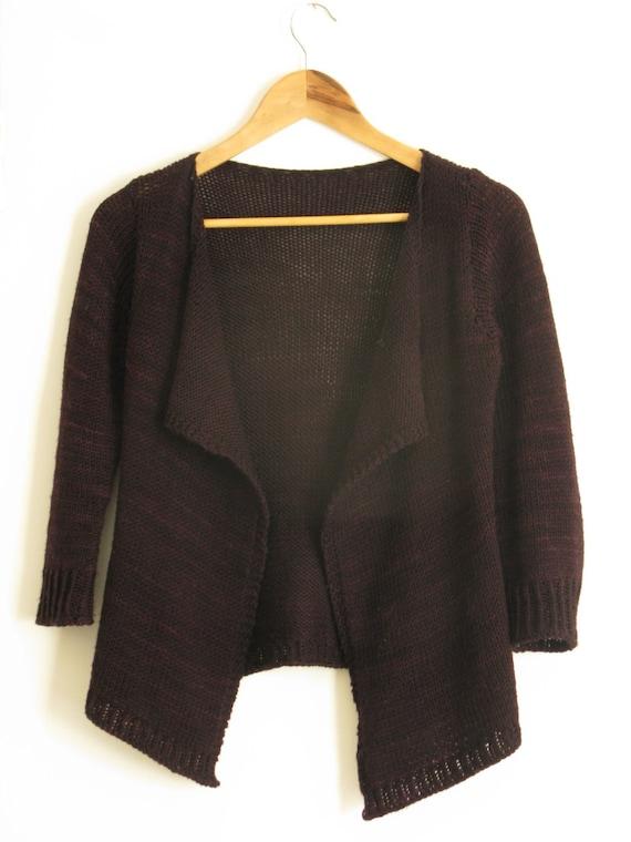PATTERN Drape Front Fitted Cardigan Knitting Pattern Pdf ...
