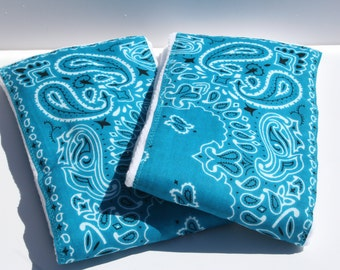 Burp Cloth/Burp Rag Baby Cotton Diaper Teal Bandana (1)