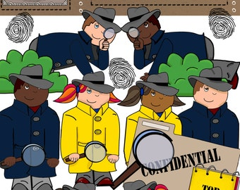 Mystery Kids Detective Clip Art