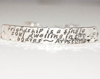 Personalized Silver Phrase Bracelet, wide bar, custom quote bracelet, inside message, silver message jewelry, bracelet, secret message