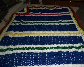 Primary Colors Baby Afghan