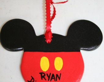 Disney Mickey Mouse Ceramic Personalized Ornament - Great for Fish Extender FE gift