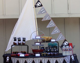 Classic Pirate Party Printable Birthday Pack 300 dpi No Invitation