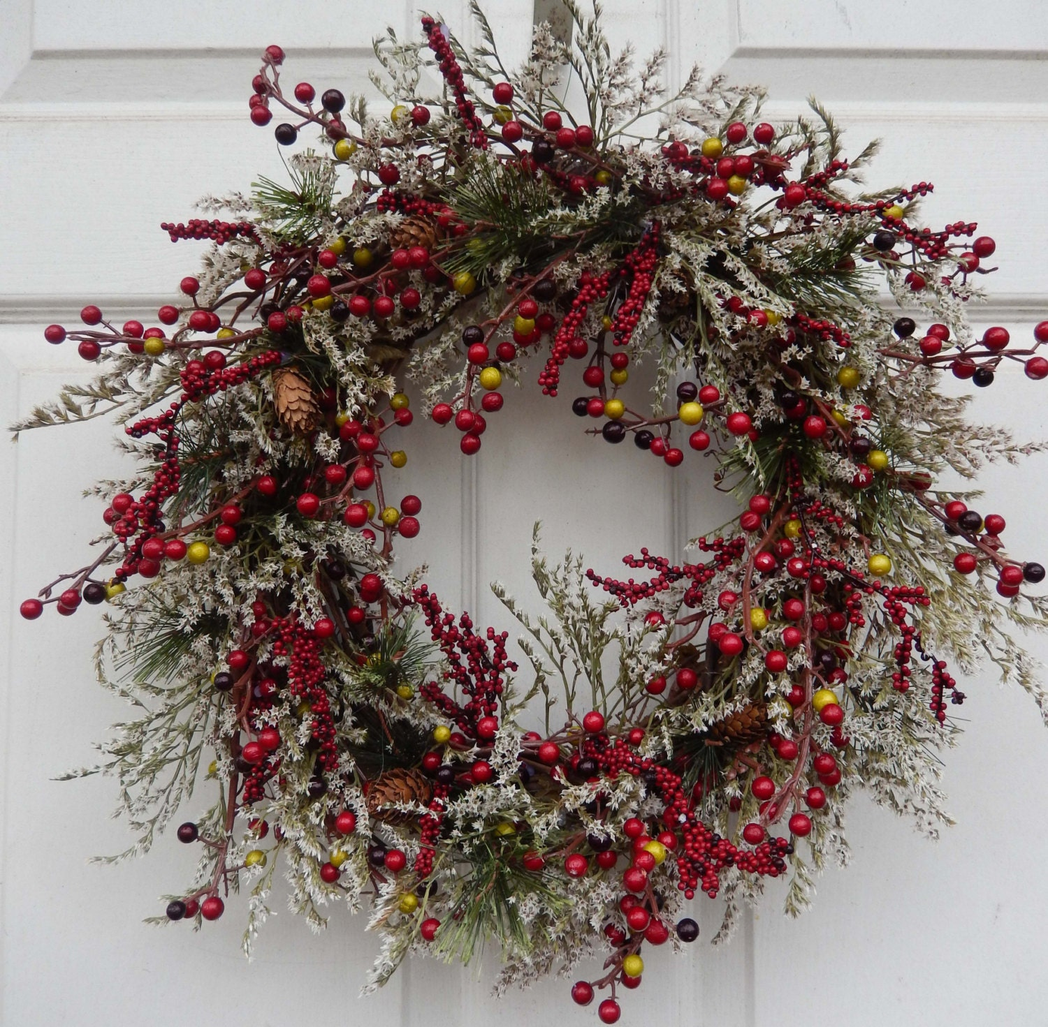Winter Wreath Christmas Wreath Holiday Christmas Wreath