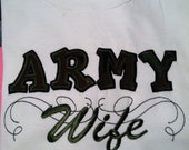 Army Wife, Army Aunt, Army Mother in law, Army Mom shirt custom colors available... support the Military