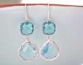 Dangle Earrings, Blue Earrings, Aqua Earrings Bridesmaids Earrings Bridesmaid Gifts Gifts for Her Best Friend Gifts Girlfriend Birthday Gift