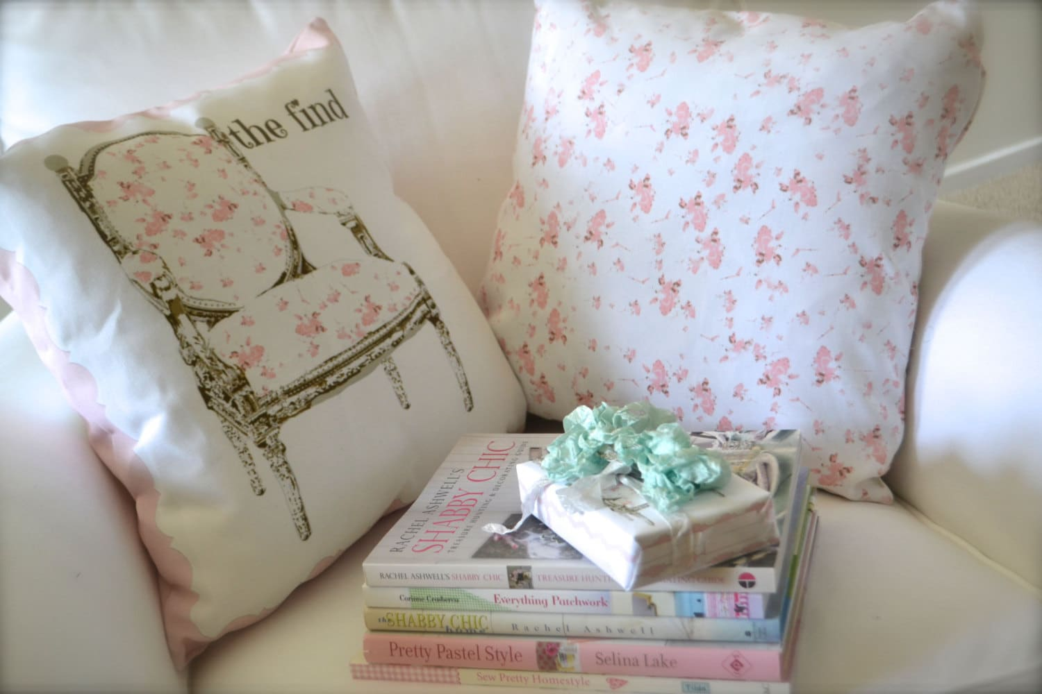 Two Pillow Covers Indoor A Shabby Chic pair of by frenchscript