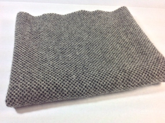 Black and White Honeycomb, Wool Fabric for Rug Hooking and Applique, Select-a-size, J723