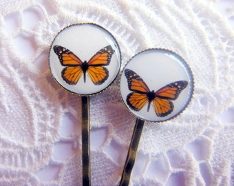 Monarch Butterfly Hair Clips Bobby Pins