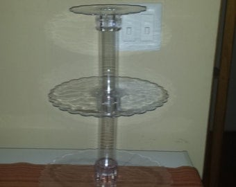 3 layer acrylic scalloped edge cupcake stand centerpiece lifter