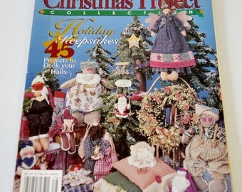Christmas Project Collection Holiday Keepsakes Projects Gifts Decorations Handmade Country Crafts 1997 Wood Paper Fabric Patterns