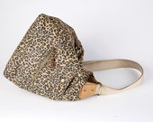 90s Leopard Print Nylon Transforming Bag / Backpack / Nine West
