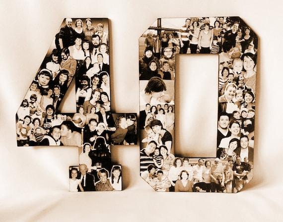 40th Birthday Collage Milestone Birthday By Picketfencecrafts