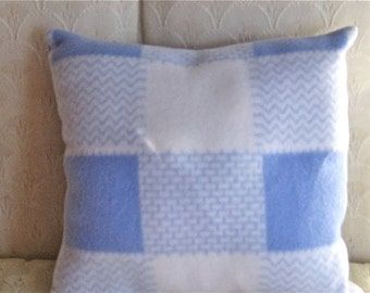 Small Travel /Toddler /Baby Pillow Blue and White