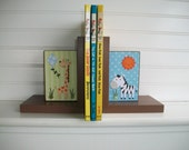 Childrens Book Ends. Safari. Jungle. Playroom , Boutique Bookends. Play Room