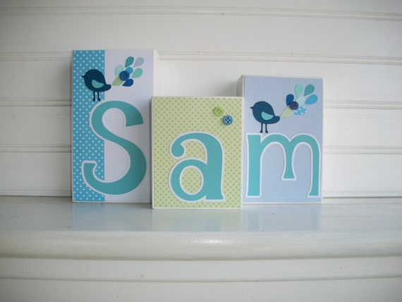 3 letter baby names items similar to baby name letters name blocks m2m 20060