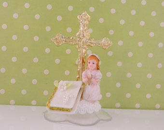 First Communion Cake Topper / Decoration / Girl