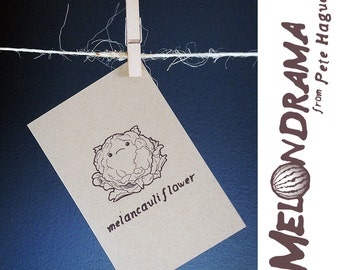 Melancauliflower - MELONDRAMA - Blank Card