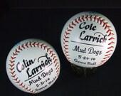 Personalized  Sport Balls Baseball, Basketball, Soccer, Softball, Teeball.  Commorative Coach or Player Award Ceremony