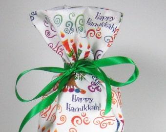 Happy Hanukkah Wine Gift Bag