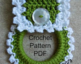 Crochet Kitchen Towel Holder Pattern, Pattern to make your own kitchen towel holder
