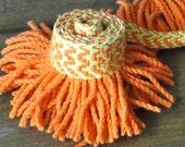 Neon Orange and Yellow Vintage Fringe Trim - One Yard