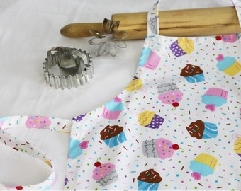 White Cupcakes and Sprinkles Child Apron