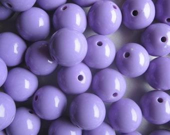 Chunky Lavender Acrylic Beads 20mm 14 Beads
