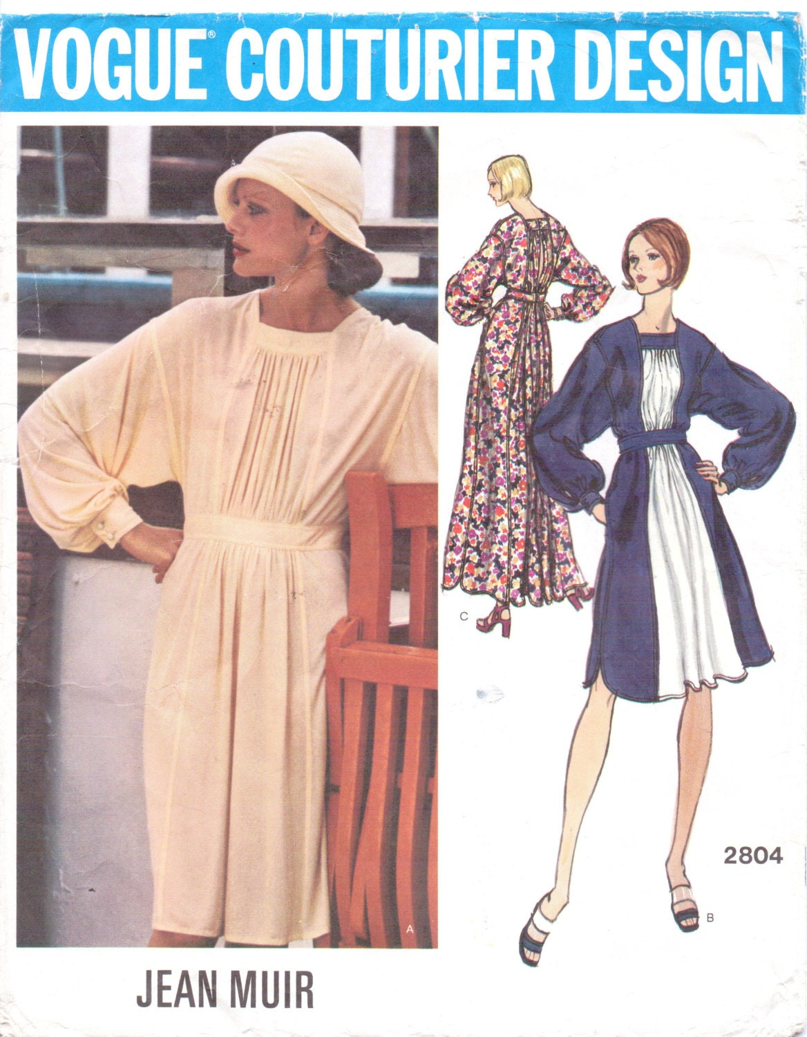 1970s Jean Muir dress pattern Vogue 2804