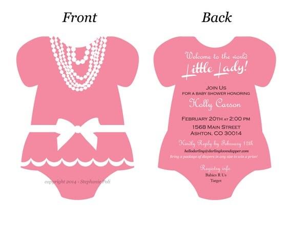 Ballerina Baby Shower Invitation for best invitations design