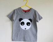 Panda applique t shirt 2-3 years