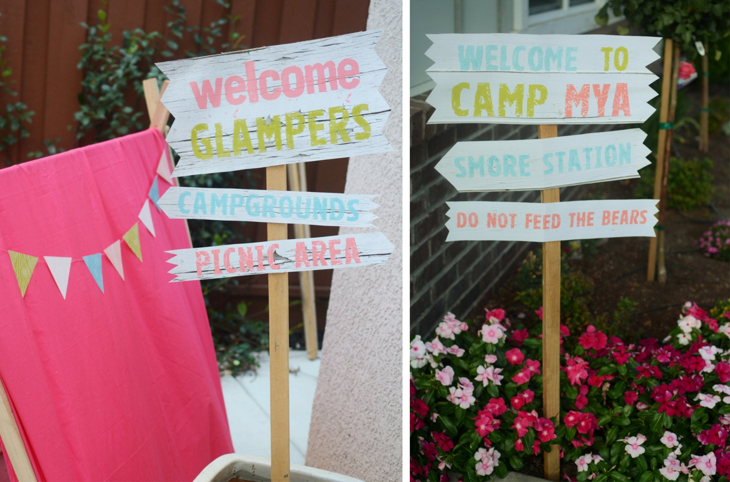 Glamping party collection diy printables for Glamping ideas diy