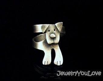 Sterling Silver Labrador Ring - Buddy