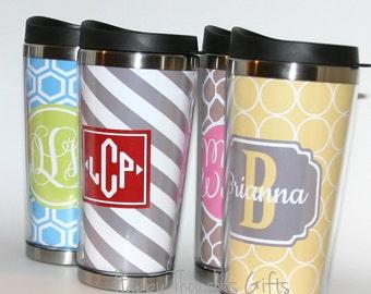 Coffee Tumbler - Travel Mug - Personalized Coffee Tumbler - Coffee Mug - Monogram Tumbler - Travel Coffee Mug - Custom Tumbler - Monogram