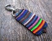 Handmade Micro Macrame Key Chain with Swivel Clip