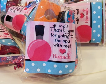 Personalized Spa Favor Tags Printable - Spa Soiree Collection