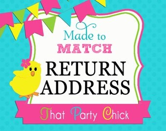 Made to Match Return Address Labels Printable by That Party Chick