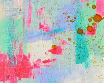 Shine On - Original 6x8 abstract painting
