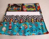 Racing crayon roll crayon holder race car print crayon case pockets hold paper stickers hold 16 crayons