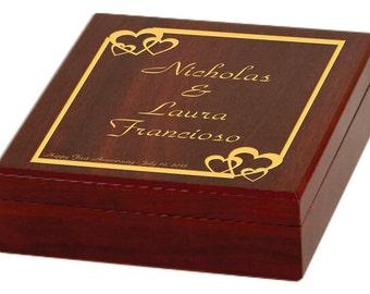 Engraved Three Piece Wine Tools Gift Set - Personalized Rosewood WineTool Set - Wedding Gift, Anniversary Gift, Ceremony Wine Box