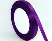 "Purple Satin Ribbon-3/8""-10mm-10 YDS #R017"