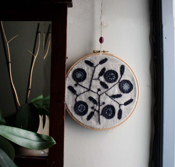 Modern Embroidery by Project Sarafan. Wall Hanging. Tree of Life Unique. Made to order