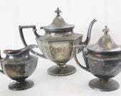 Art Deco Meriden Tea Service silverplate