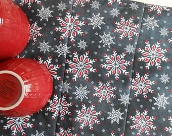 Christmas Dish Mat in Snowflake Chalkboard /  Dish Drying Mat / Dish Draining Towel/ Great Christmas Gift for Women