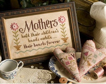 Mothers cross stitch pattern by Lizzie Kate at thecottageneedle.com Mother's Day Mom Grandmother Granny birthday May for her hand embroidery